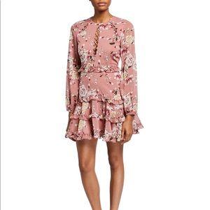 BARDOT Hazel Floral Ruffle Mini Dress L